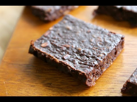 Chocolate Brownie For Weight Loss / Fat Loss - Oil Free, Healthy & Low Calorie - Skinny Recipes