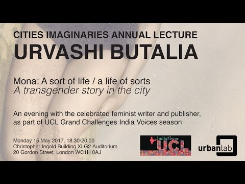 Urvashi Butalia: Cities Imaginaries lecture 2017