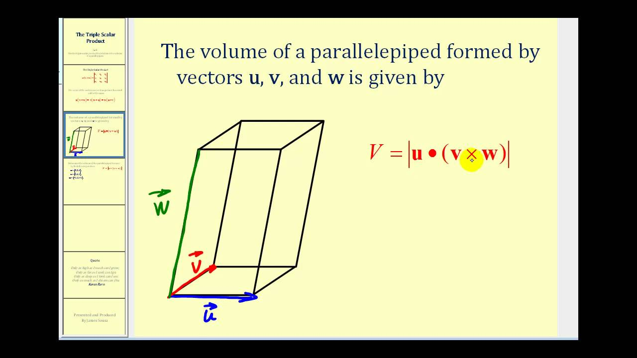 The Triple Scalar Product - YouTube