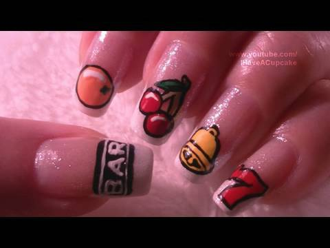 Slot machine nail art tutorial youtube prinsesfo Image collections