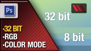 Adobe Photoshop CS6 - RGB 32 Bit vs 8 Bit (Tutorial by VOXLAB)