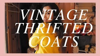 my vintage / thrifted coat collection!