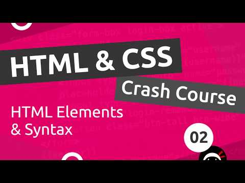 HTML & CSS Crash Course Tutorial #2 - HTML Basics