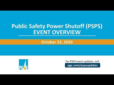 October 23 PSPS Event Update