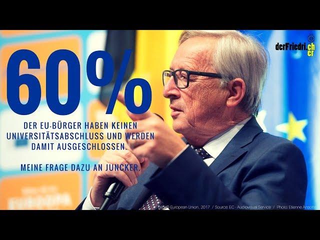 EU-Kommission grenzt 60% der EU-Bürger aus | #EUDIALOGUES