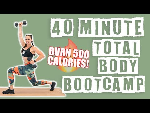 40 Minute Total Body Bootcamp Workout 🔥Burn 500 Calories! 🔥