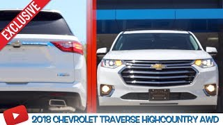 ☑️ REVIEW 2018 Chevrolet Traverse High Country AWD | In Depth Tour @ Marchant Chevy