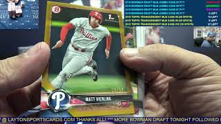 2018 Bowman Draft Baseball Jumbo 8 Box Case Break #6