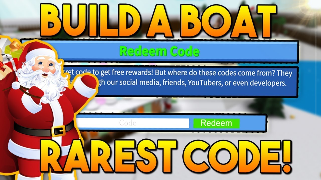 RAREST *NEW* WINTER CODE!🎅 | Build a boat For Treasure ...