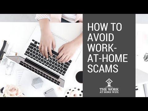 How can I avoid work-at-home scams?