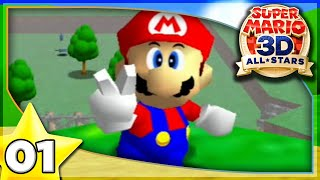 Bob-omb Battlefield 100%!  Super Mario 64 (3D All-Stars) Gameplay Walkthrough Part 1!
