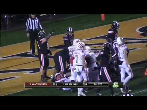 Massillon vs Wadsworth Playoff Game Highlights 11/16/18