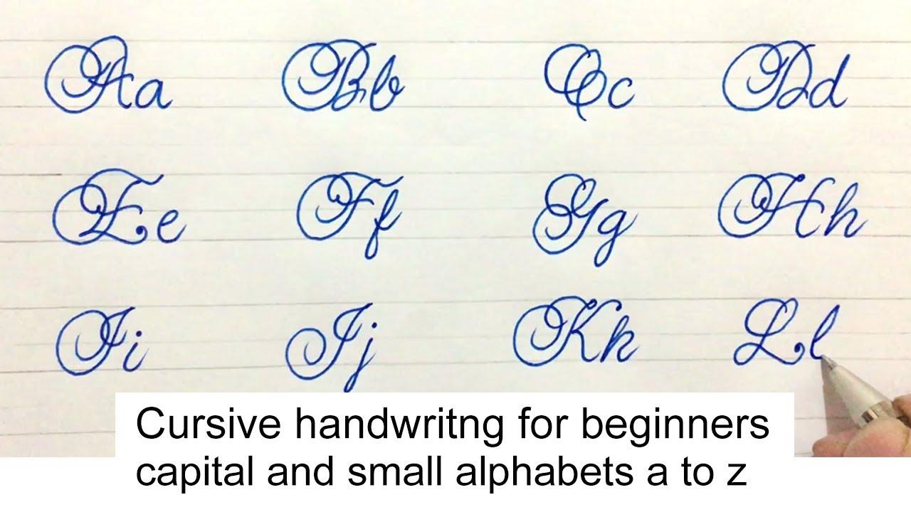 Cursive handwriting calligraph cursive capital and small alphabetatoz    Umar Calligraphy