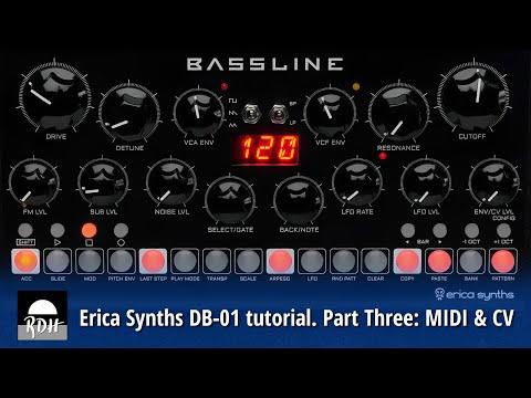 Erica Synths DB-01 tutorial - Part 3: MIDI & CV