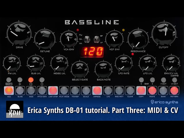 Erica Synths DB-01 tutorial - Part 3: MIDI & CV