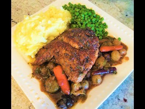 Red Wine Braised Chicken - Slow Cooker Recipe