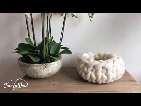 DIY Tutoriel ComfyWool: Commentt Tricoter Un Panier En Laine XXL 100% Mérinos