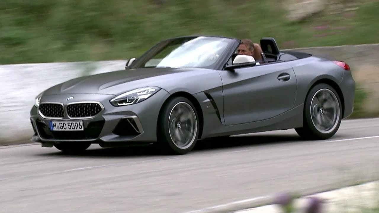 2019 Bmw Z4 Frozen Grey Driving Youtube