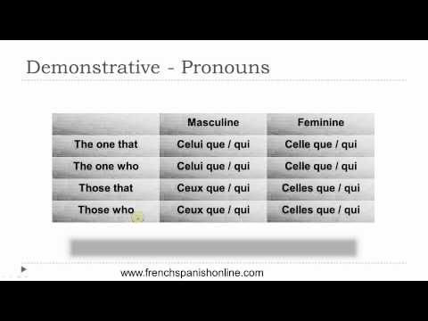 Demonstrative Pronouns in French