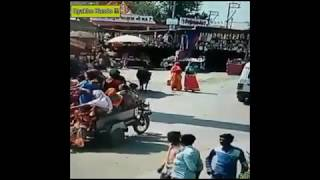 Overcrowded Motor Van Funny Accident