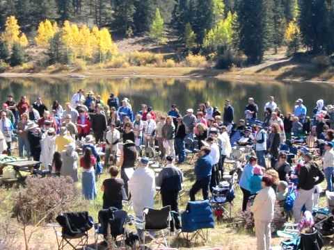 Final Shofar Blowing - Rosh Hashanah In the Mountains 9-29-11