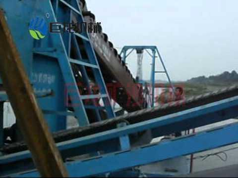 julong gravel and sand bucket chain dredger