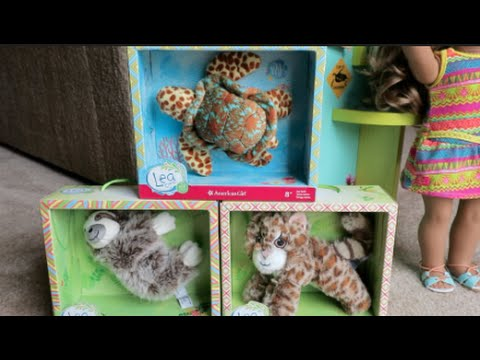 AMERICAN GIRL LEA'S ANIMALS ♥ TURTLE, SLOTH, CAT   INtoyreviews