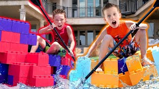 Giant Lego Boat Battle!