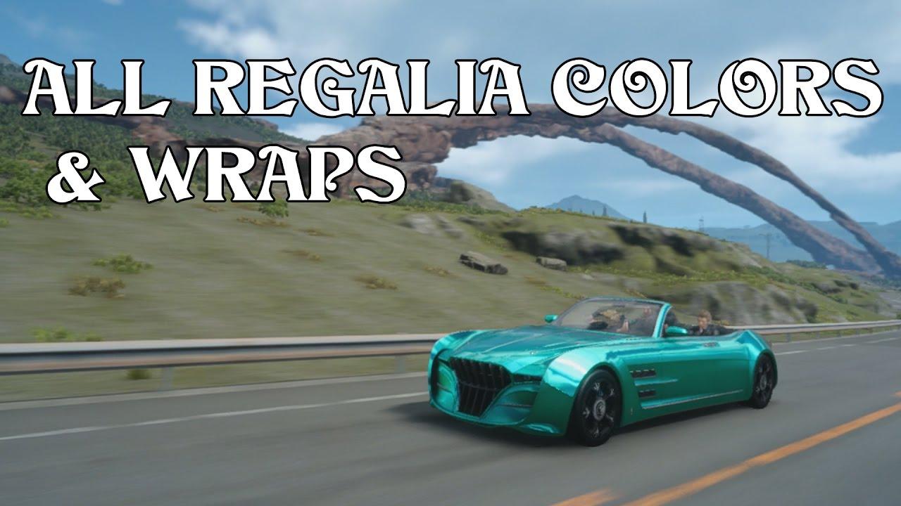 Final Fantasy Xv All Car Colors Wraps Youtube