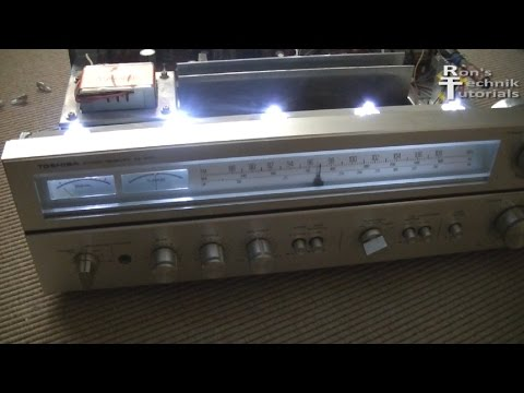 HOW TO REPAIR CRACKING NOISE IN AMPLIFIER+SWITCH TO LED LIGHTS on old Toshiba FIX
