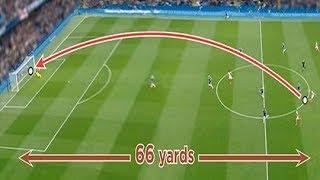 20 Amazing Halfway Line Goals ● Crazy Long shot goals ever in football ● HD