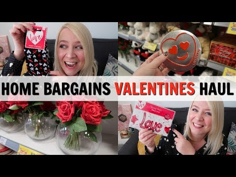 HOME BARGAINS VALENTINES COME SHOP WITH ME & HAUL!