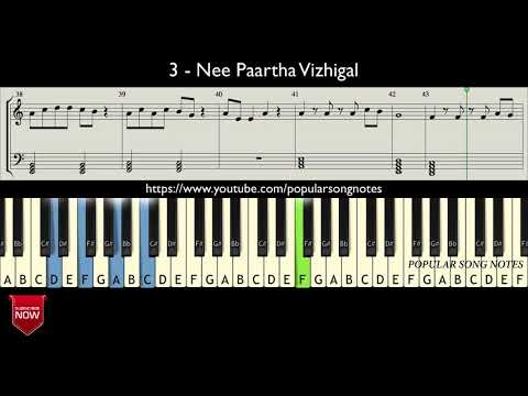 3 - NEE PAARTHA VIZHIGAL ( HOW TO PLAY ) MUSIC NOTES