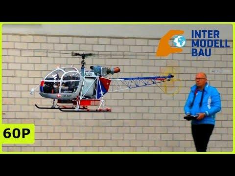 FANTASTIC XXL RC SA-315 LAMA INDOOR FLIGHT - INTERMODELLBAU DORTMUND 2019