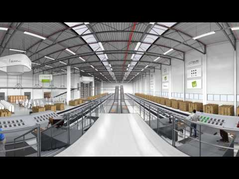 Logistikzentrum der beeline Accessoires Vertriebs GmbH - Virtual Reality Animation
