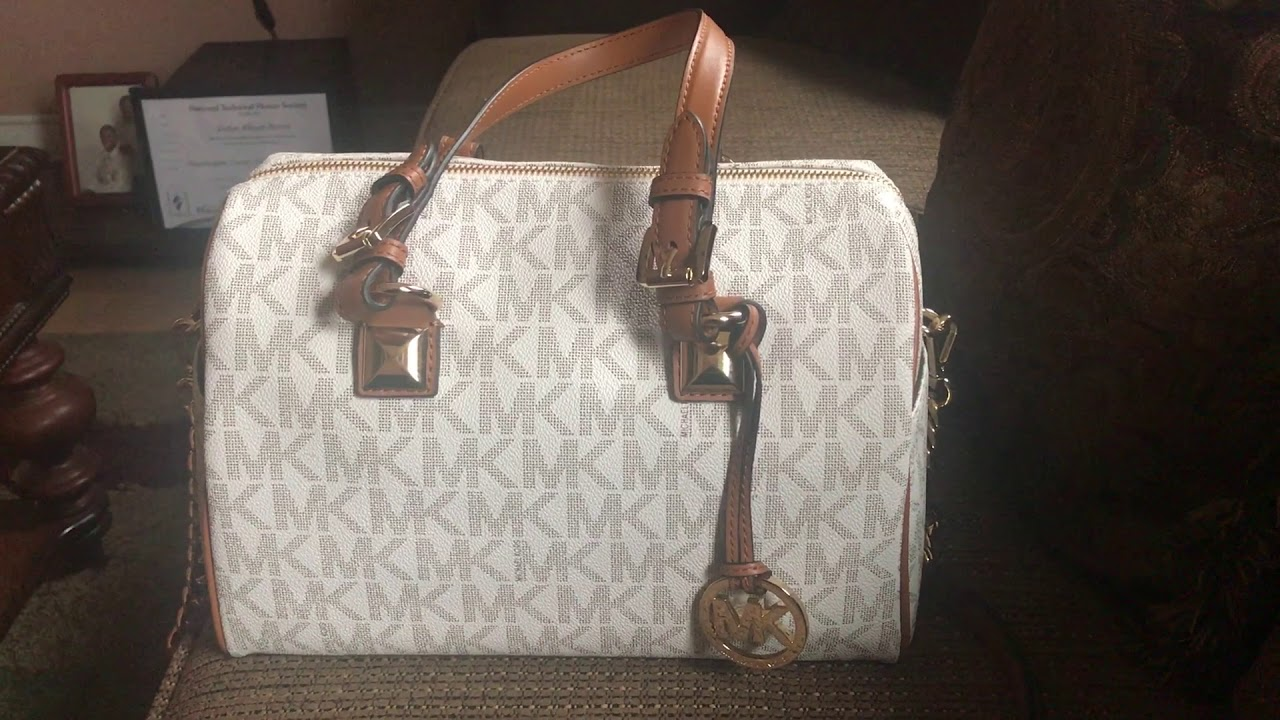 279422fd3969 Michael Kors medium Grayson satchel - Color Vanilla Acorn. Cynthia s Closet