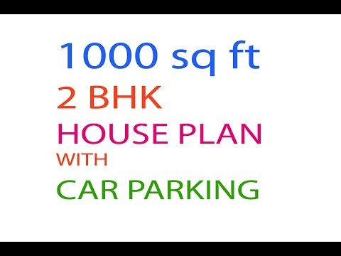 1000 sq ft HOUSE DRAWING MAP WITH CAR PARKING - YouTube