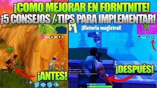 COMO MEJORAR EN FORTNITE!! GUIA FORTNITE BATTLE ROYALE - CONSEJOS Y TRUCOS FORTNITE PC/XBOX ONE/PS4