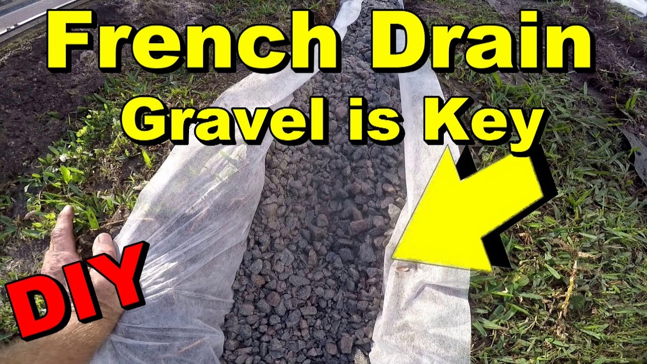 French Drain To Sump Pump Gravel Perforated Pipe Diy
