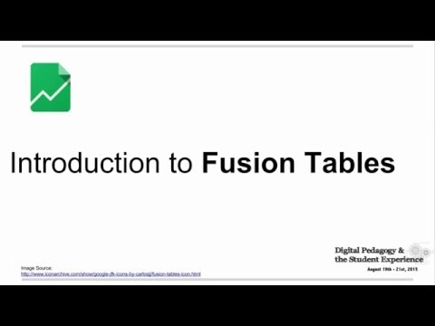 Fusion Tables - Data visualization web application
