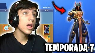 FORTNITE-MY REACTION TO THE NEW SEASON 7!! (NEW BATTLE PASS, MAP, AIRPLANE, SKINS...)
