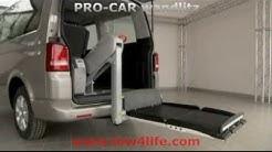 Rollstuhllift Fiorella F300 im VW Bus T5 mit Heckeinstieg