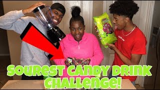 SOUREST CANDY DRINK IN THE WORLD CHALLENGE!!! | BANANA CREW