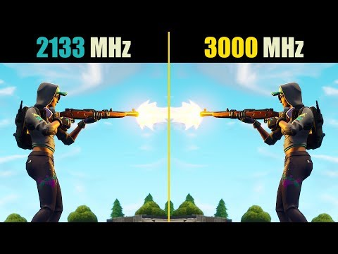 Fortnite 2133 MHz vs. 3000 MHz (16GB RAM, Dual Channel Disabled)