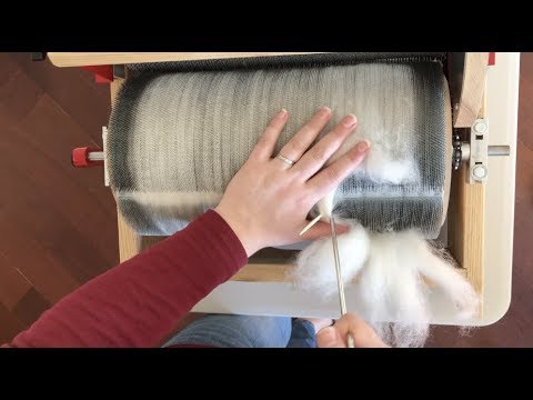 Fleece to Fo Part 2: Drum Carding Corriedale With a Strauch Finest N. 31