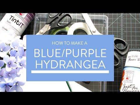 How to Make Crepe Paper Blue Hydrangeas