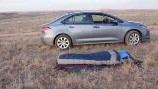 Car camping at the BLM motel north of Fruita, Colorado