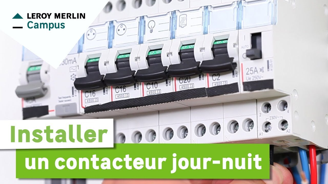 Colle Thermofusible Leroy Merlin comment installer un contacteur jour/nuit ? leroy merlin