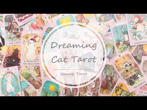 開箱  夢幻貓咪塔羅牌 • Dreaming Cat Tarot // Nanna Tarot