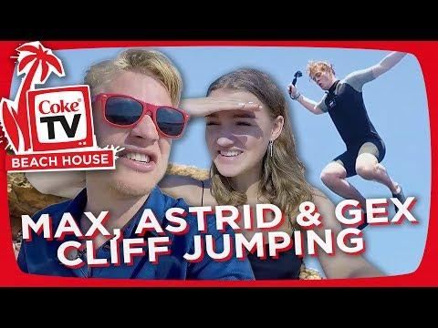 MAX MARIUS, GEX OG ASTRID OLSEN TESTER CLIFF JUMPING | #CokeTVBucketlist
